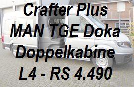 Crafter - MAN TGE Plus Doppelkabine L4 lang