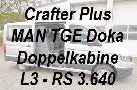 Crafter - MAN TGE Plus Doppelkabine L3 standard