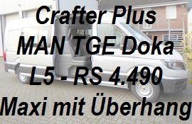Crafter - MAN TGE Plus Doppelkabine L5 extralang