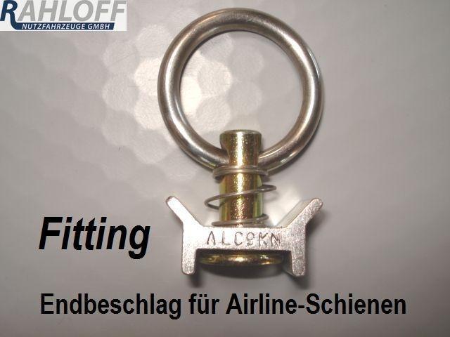 Airlineschiene - Endbeschlag Fitting-Ring
