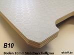 Sperrholz Multiplex Platte mit Siebdruck - Beschichtung 10mm hellgrau ca. 2.500 x 1.500 mm - B10A