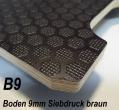 Sperrholz Multiplex Platte mit Siebdruck - Beschichtung 9mm braun ca. 2.500 x 1.500 mm - B9A