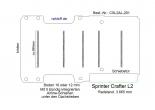 Crafter Sprinter Boden mit 5 Zurrschienen - L2-201