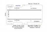 Crafter Sprinter Boden mit 2 Zurrschienen - L2-101