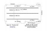 T5 - T6 Bodenplatte mit 3 Zurrleisten längs - L2 lang T301