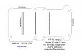 T5 - T6  Bodenplatte mit 3 Zurrleisten quer unter den Dachstreben - L2 lang T201