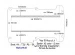 T5 - T6 Bodenplatte mit 2 Zurrschienen längs - L1 kurz T101