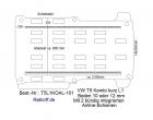 T5 - T6 Kombi Boden mit 2 Zurrschienen längs - L1 kurz KO T101
