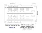 T5 - T6 Kombi Boden mit 3 Zurrschienen längs - L1 kurz KO T301