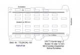 T5 - T6 Kombi Bodenplatte mit 2 Zurrleisten längs - L2 lang KO T101