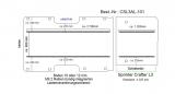 Crafter Sprinter Bodenplatte mit 4 Zurrleisten längs - L3 T101