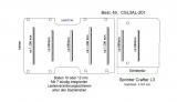 Crafter Sprinter Bodenplatte mit 7 Zurrleisten quer - L3 T201
