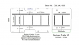 Crafter Sprinter Bodenplatte mit 11 Zurrleisten längs und quer - L3 T203