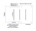 Movano NV400 Master Bodenplatte mit 3 Ladungssicherungs quer - Schienen - L1H1 kurz - T201