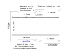 Movano NV400 Master Bodenplatte mit 2 Ladungssicherungs - Schienen - L1 kurz - T101