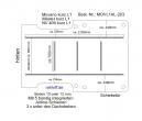 Movano NV400 Master Bodenplatte mit 5 Ladungssicherungs - Schienen - L1H1 kurz - T203