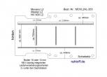 Movano NV400 Master Boden mit 5 Zurrschienen längs und quer - L2 - T203