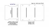 Movano Master NV400 Boden mit 4 Ladungssicherungs-Schienen quer - L3 lang T201