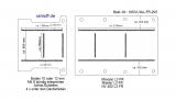 Movano Master NV400 Boden mit 8 Ladungssicherungs-Schienen längs + quer - L3 lang T203