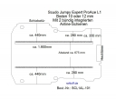 Scudo Expert Jumpy ProAce Boden mit 2 Zurrschienen längs - L1 kurz T101
