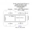 Scudo Expert Jumpy ProAce Boden mit 5 ZUrrleisten längs und quer - L1 T204