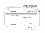 Scudo Expert Jumpy ProAce Boden 2 integr. Airlineschienen L2 101