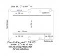Citan Kangoo Boden mit 2 Ladungssicherungs-Schienen L3 T 101