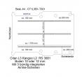 Citan Kangoo Boden mit 3 Ladungssicherungs-Schienen L3 T301