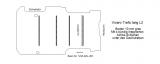 Trafic Vivaro Boden mit 4 Ladungssicherungs-Schienen L2 alt T201