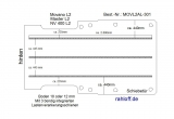 Movano NV400 Master Boden mit 3 Zurrschienen längs - L2 - T301
