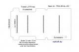 Transit Boden mit 4 Zurrschienen quer - L3 neu FR T201