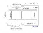 Transit Bodenplatte mit 5 Zurrleisten längs und quer - L2 FR T203