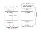 Vivaro Trafic NV300 Talento Boden mit 2 Zurrchienen - L1 kurz T101