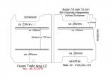 Vivaro NV300 Talento Trafic Bodenplatte mit 2 Zurrleisten - L2 lang T101