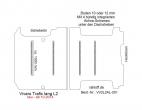 Vivaro NV300 Talento Trafic Bodenplatte mit  4 Zurrleisten quer - L2 lang T201