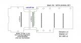 Master NV400 Movano Boden mit 5 Ladungssicherungs - Schienen quer - L4 extralang T201