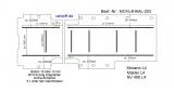 Master NV400 Movano Boden mit 9 Ladungssicherungs - Schienen längs + quer - L4 extralang T203