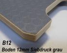 Sperrholz Multiplex Platte mit Siebdruck - Beschichtung 12mm dunkelgrau ca. 3.000 x 1.880 mm - B12C