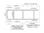 Hyundai H 350 Bodenplatte mit 5 Zurrschienen - längs und quer - L2 T203