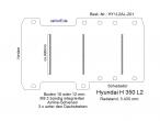 Hyundai H 350 Bodenplatte mit 3 Zurrschienen quer - L2 T201