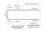 Hyundai H 350 Bodenplatte mit 2 Zurrschienen längs - L2 T101