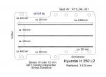 Hyundai H 350 Bodenplatte mit 3 Zurrschienen längs - L2 T301