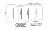 Hyundai H 350 Bodenplatte mit 4 Zurrleisten quer - L3 T201