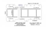 Hyundai H 350 Bodenplatte mit 8 Zurrleisten längs + quer - L3 T203