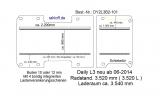 Daily Bodenplatte mit 4 Ankerschienen längs - L3 - T101