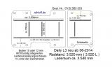 Daily Bodenplatte mit 8 Ankerschienen längs + quer - L3 - T203