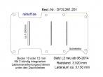 Daily Bodenplatte mit 3 Zurrleisten quer - L2 - T201