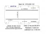Daily Bodenplatte mit 2 Zurrleisten längs - L2 - T101