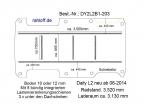 Daily Bodenplatte mit 5 Zurrleisten längs + quer - L2 - T203
