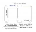 Daily Bodenplatte mit 2 Zurrschienen quer - L1 kurz T201